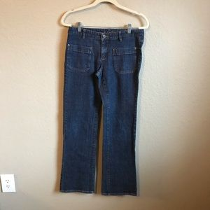 Michael Kors Size 6 Dark Wash Jeans Gold Accents